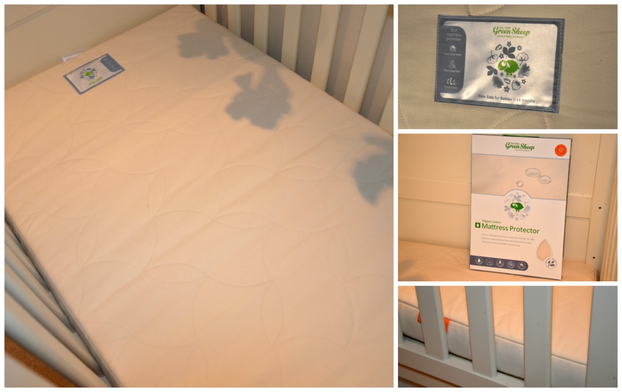 GREEN SHEEP BABY COT MATTRESS