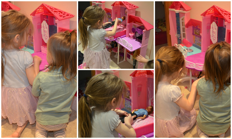 Playing barbie malibu house