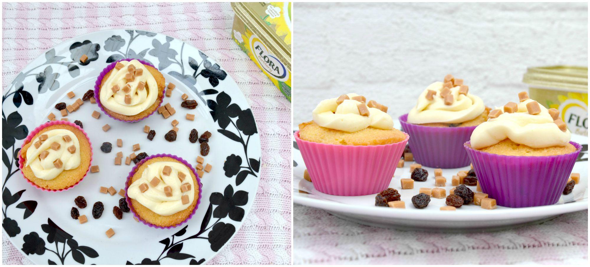 fudge and raisin cupcakes