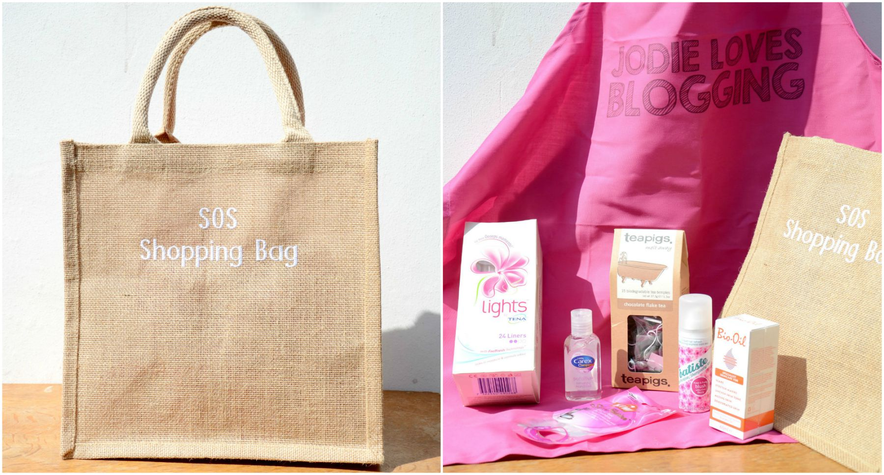 tena sos shopping bag