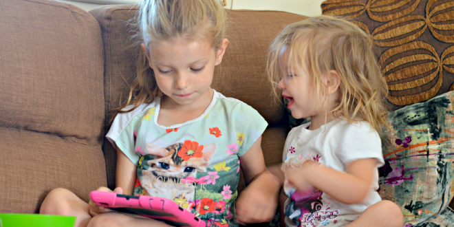 love, family, parenting, sisters, daughter, bond, family, happy, ipad, play, morning,sunday