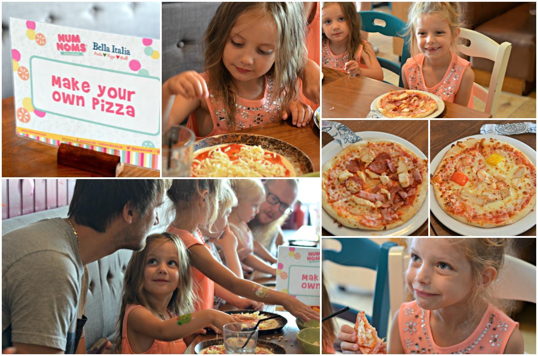 MAKE YOUR OWN PIZZA NUM NOMS BELLA ITALIA
