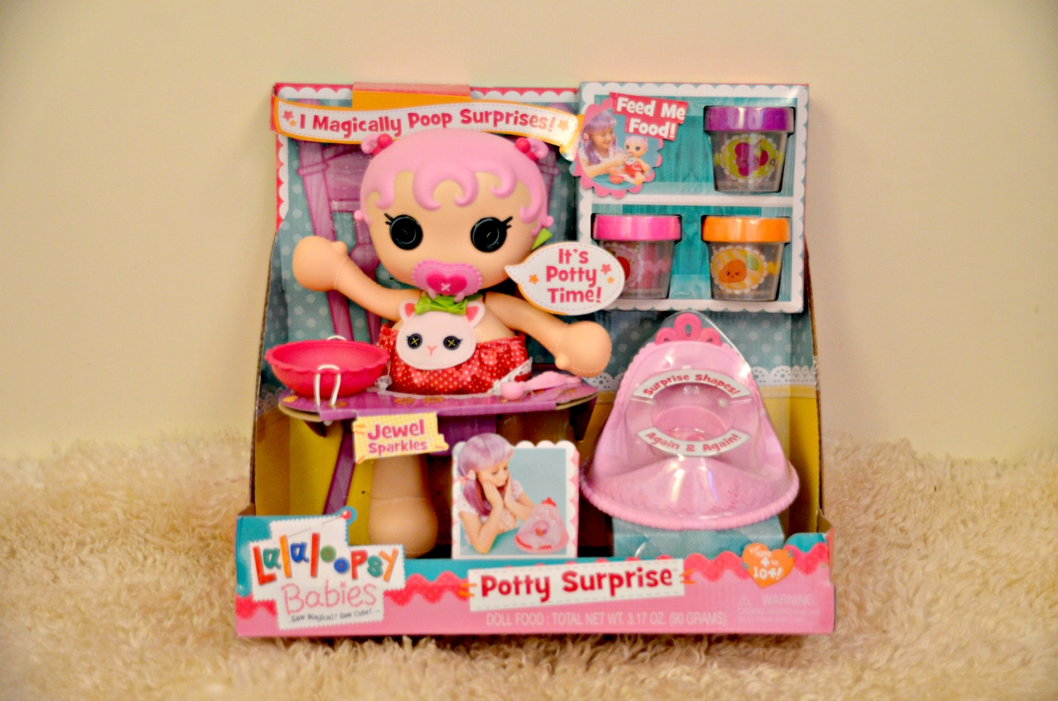Lalaloopsy Toy Food : Lalaloopsy babies potty surprise doll review life with